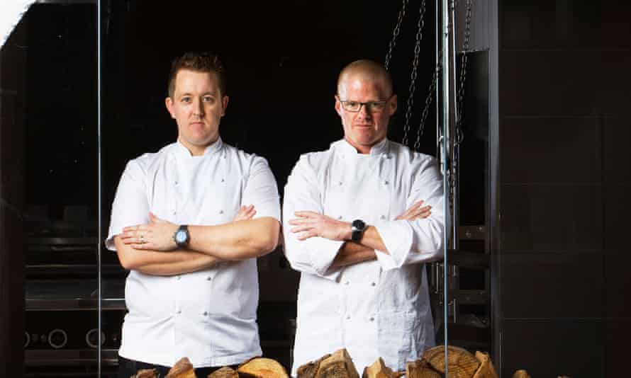 Chefs Heston Blumenthal and Ashley Palmer-Watts whose Dinner by Heston Blumenthal restaurant was the only UK one to make it into the top 10 this year.