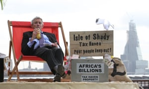 The Isle of Shady, a pop-up tax haven on Londons South Bank, was set up by Enough Food IF campaigners