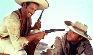 Ennio Morricone wrote the score to The Good, the Bad and the Ugly (1967), starring Eli Wallach, left, and Clint Eastwood.