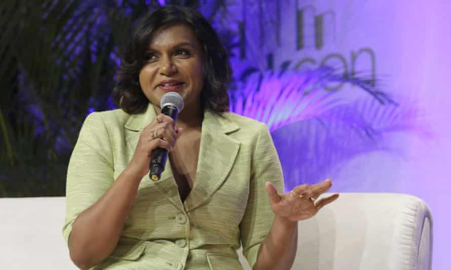 Mindy Kaling speaks during a panel discussion at BookCon.