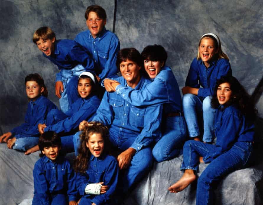 Bruce Jenner with the Kardashian-Jenner clan.