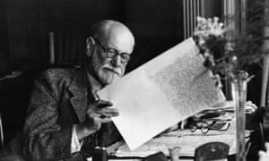 Sigmund Freud in the office of his Vienna home, 1930