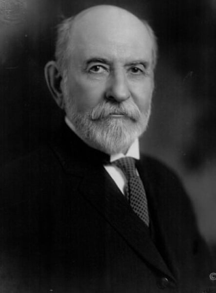 William Temple Hornaday, the zoologist and found- ing director of the Bronx Zoo, where Ota Benga was exhibited.
