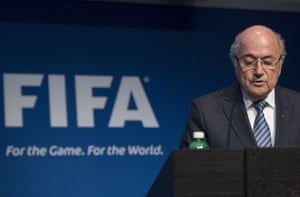 Sepp Blatter reveals his decision to stand down.