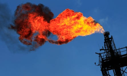 Excess natural gas flares at a Pemex refinery in Mexico. Beginning this year, the Mexican oil company will share the country's resources with a host of outside competitors.
