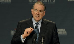 Republican presidential hopeful Mike Huckabee says transgender rights pose a threat to the US.