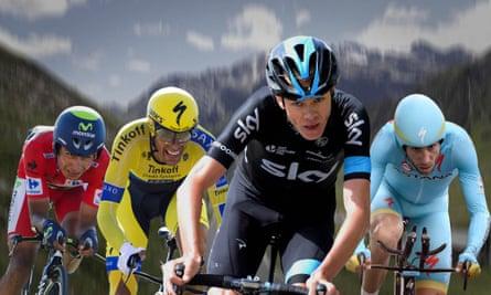 Nairo Quintana, Alberto Contador, Chris Froome and Vincenzo Nibali.