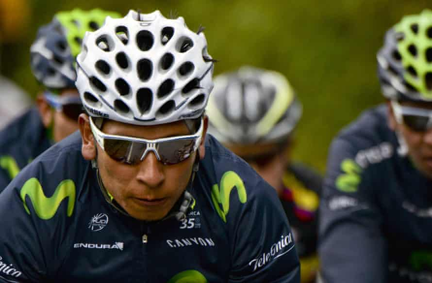 Colombian cyclist Nairo Quintana takes part in a training session in Arcabuco in June.