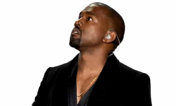 Kanye West onstage during the 57th Annual Grammy Awards, Los Angeles, in February.
