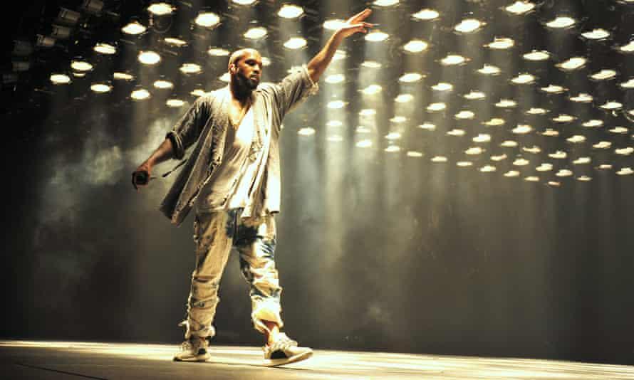 Kanye West on stage in Atlanta, Georgia, on Saturday.