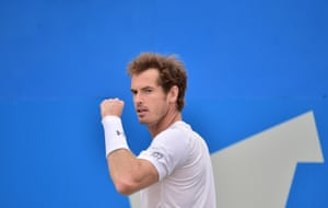 Andy Murray wins the game.