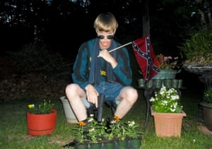 An image of Dylann Roof that appeared on Lastrhodesian.com, a website being investigated by the FBI in connection with the Charleston shooting.