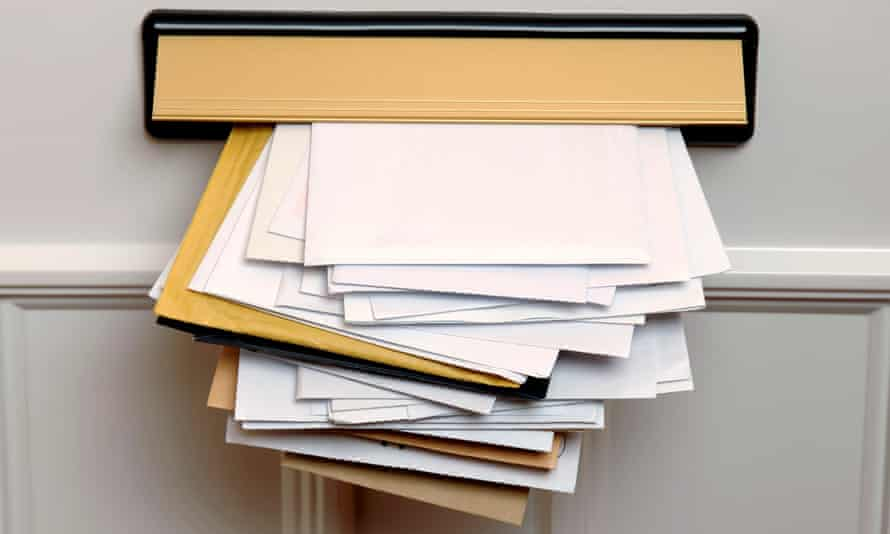Junk mail and letters. Royal Mail is considering a trial with a UK retailer to deliver postal reminders after internet browsing.