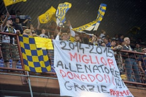 Supporters of Parma before the Serie A match at Sampdoria in May 2015.