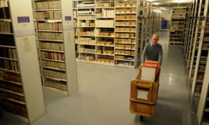 A librarian moves recordings in the British Library's 6.5m-strong archive of what our lives sound like.