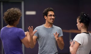 Arthur Pita, centre, rehearsing Facada with Ivan Vasiliev and Natalia Osipova for the Ardani 25 Dance Gala at London's Coliseum.