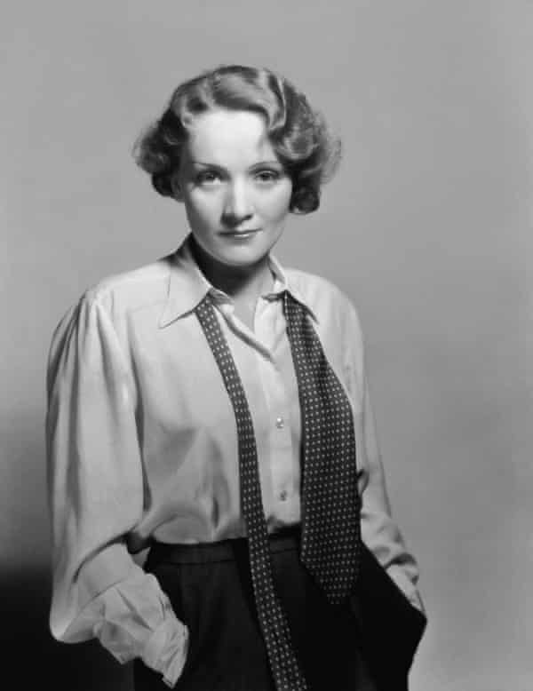 Leader of the 'sewing circle': Marlene Dietrich in 1932