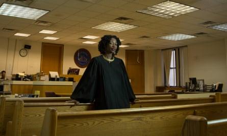 Judge Victoria Pratt in the municipal court in Newark, New Jersey.