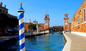 The entrance to the Arsenale in Venice
