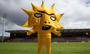 Partick Thistle's new mascot, Kingsley