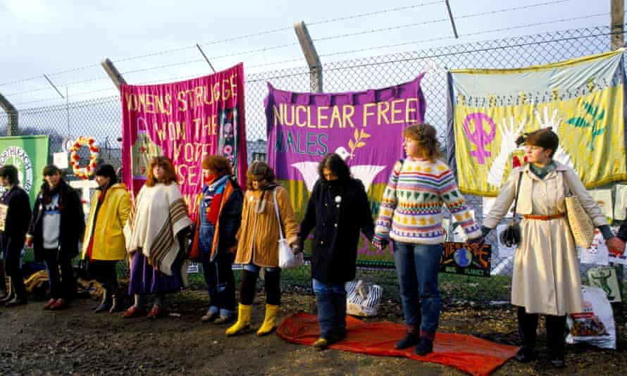Peace protesters at Greenham Common in Berkshire, 1983