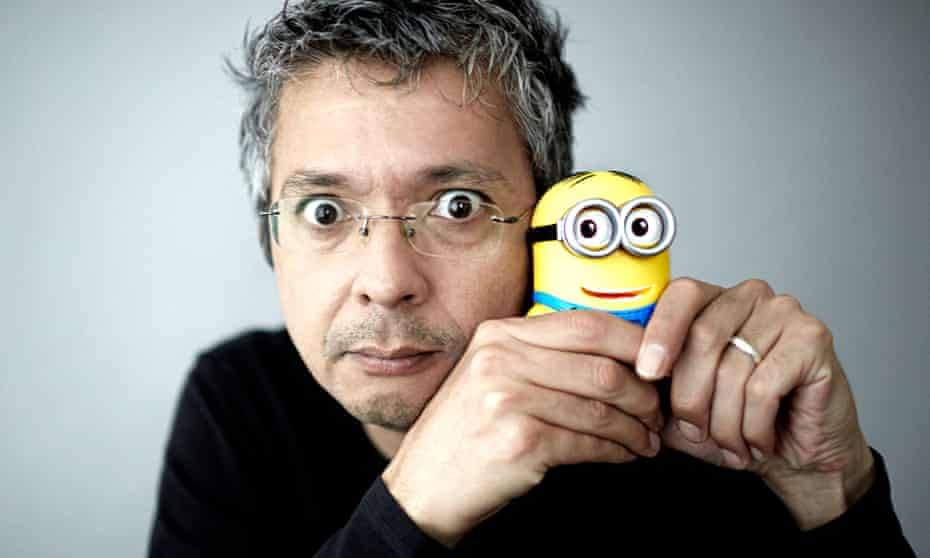 Pierre Coffin with Minion character