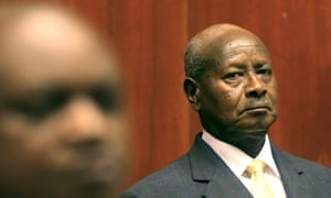 Uganda President Yoweri Museveni prepares to deliver his state of the nation address in the capital Kampala