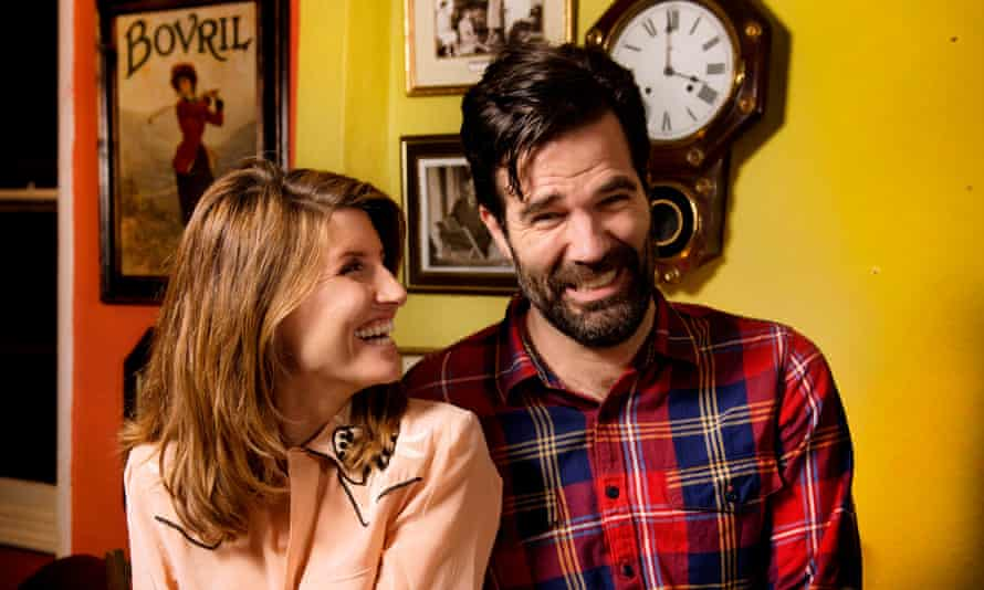 Sharon Horgan and Rob Delaney at Norman's Coach and Horses in London.