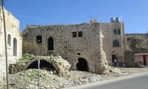 Ancient buildings in the ancient city began to crumble and decay.