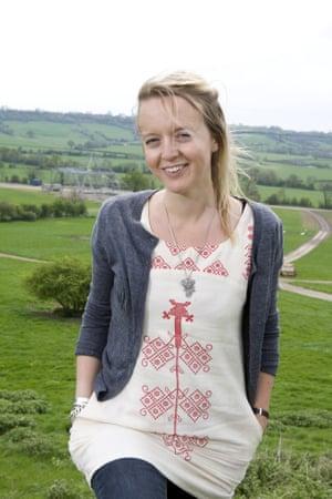 Emily Eavis at Worthy Farm.