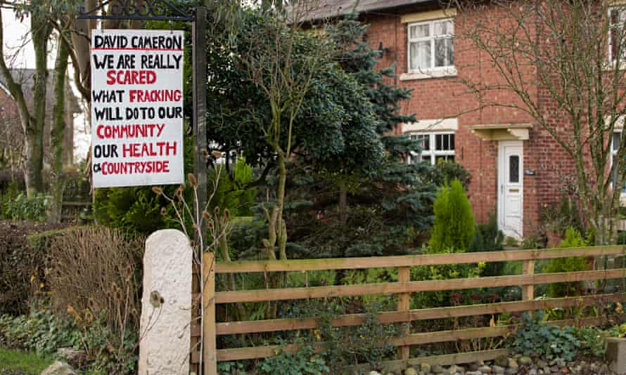 Protest in Lancashire village of Roseacre