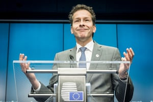 Eurogroup President Dutch Finance Minister Jeroen Dijsselbloem holds a press conference after a special Eurogroup finance ministers meeting on Greece at European Council headquarters in Brussels, Belgium on 22.06.2015