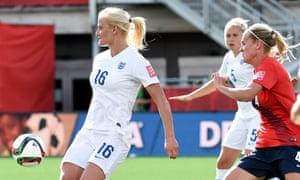England's Katie Chapman takes possession in the round of 16 Women's World Cup match against Norway.