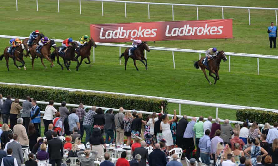 Don't Stare ridden by Andrea Atzeni wins on day three of the 2014 Ladbrokes St Leger Festival at Doncaster Racecourse.