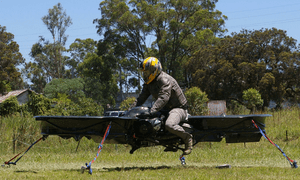 A prototype of Malloy's hoverbike.