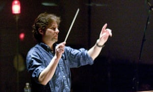 James Horner, conducting the orchestra in the score for Terrence Malick's The New World (2005).