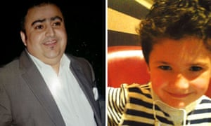 Undated family handout photos of Zayn Dean - 47- who is also known as Dholtana Dad and his son, six-year-old Mani Dad.