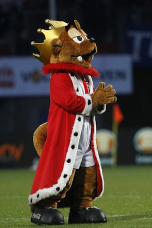 Willem II of the Dutch Eredivisie have a rather regal and smug looking mascot called Kingo