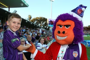 Speaking of smug looking, here's George, the Perth Glory