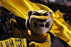 Tiger, the mascot of Brazilian side Criciúma