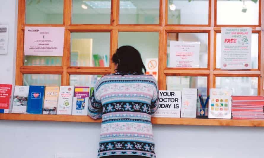 woman at doctor's surgery waiting for appointment