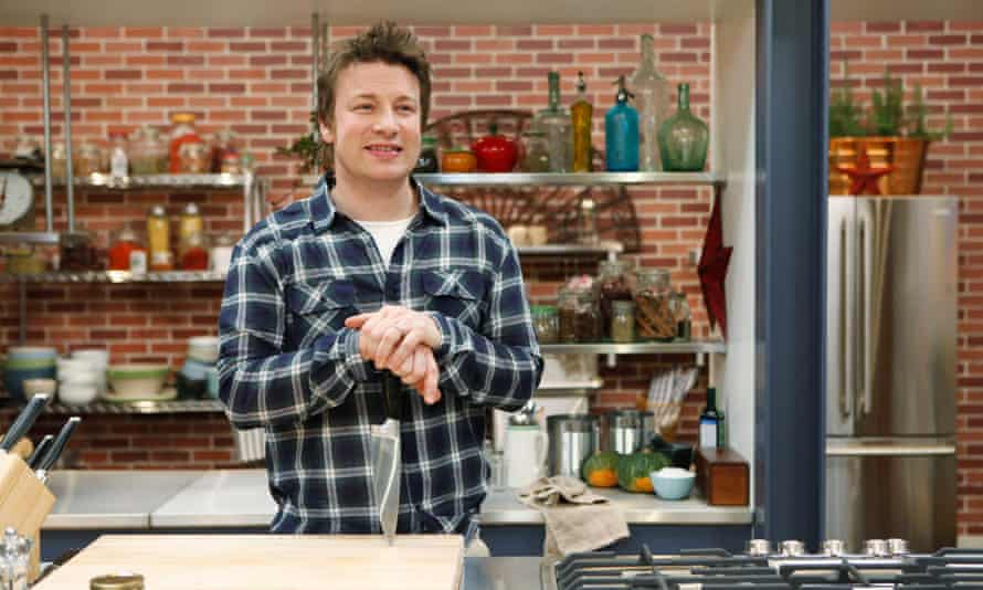 Jamie Oliver on the set of his Food Revolution programme in the US, which won an Emmy award, and ran from 2010 to 2011.