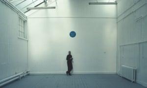 Gavin Turk's blue plaque artwork Cave, 1991.