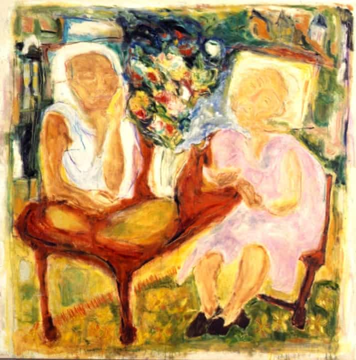 Tracey Emin's painting Me & My Nan, 1988, from her RCA degree show.