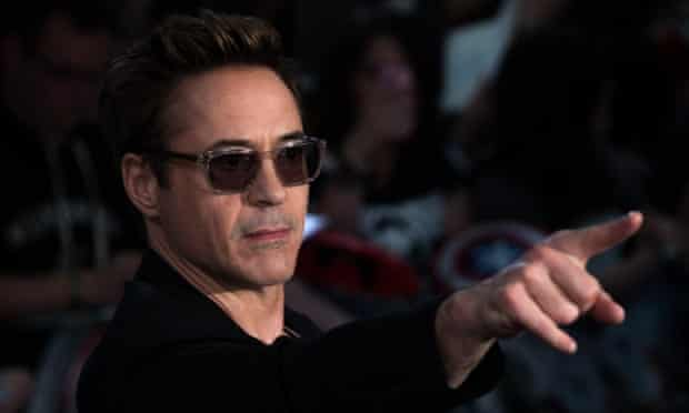 Robert Downey Jr at the European premiere of The Avengers: Age of Ultron