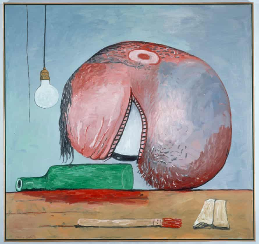 Philip Guston's Head and Bottle (1975).