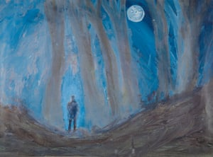 Mark Wood's painting Midnight in the Forest