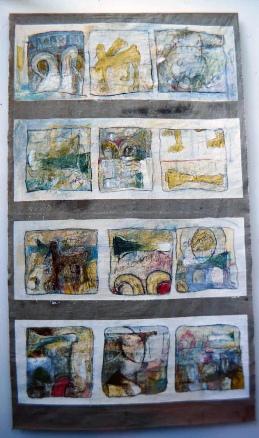 Drawings form Tacita Dean's Falmouth degree show, 1988