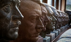 Kevin Wheatcroft's collection of Hitler heads.