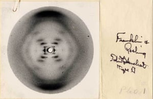 Photo 51 taken by Rosalind Franklin and R.G. Gosling